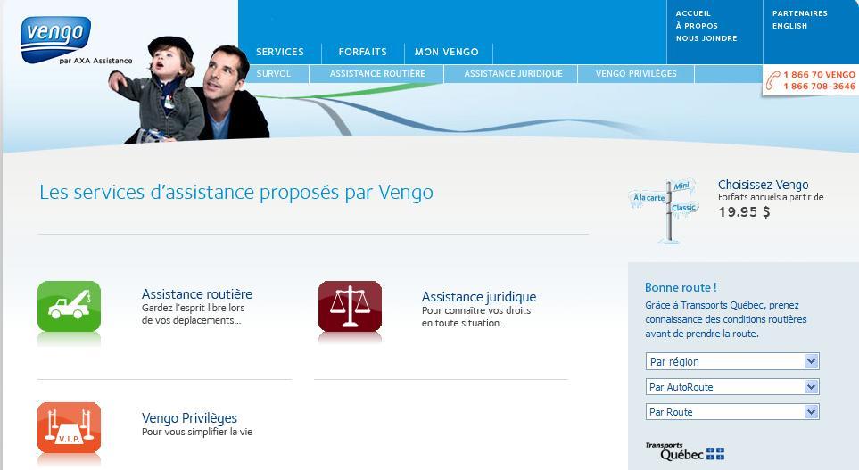 Site web Vengo